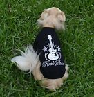 Dog T Shirt Black Rock Star Medium  - Puppy Pet Clothes Jumper Pjs  Clothing