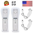 2X / 1X Built in Motion Plus Remote Controller+Nunchuck For Wii&Wii U Console