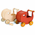 Dolls Wooden Pram Traditional Classic Push Along Stroller Toy Play Game