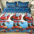 Christmas Quilt Doona Duvet Cover Set Pillow cases Queen King Size Santa Claus