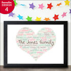 Family Gift Personalised Our Family Gift Keepsake Family Christmas New Home Gift