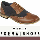NEW MENS SMART OFFICE WEDDING FORMAL CASUAL WORK LACE UP OXFORD BROGUE SHOES