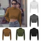 Women Crop Top Sweatshirt Jumper Sweater Batwing Long Sleeve Casual Tops TXST