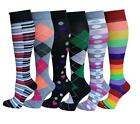 6 Pairs Dr Shams Moderate 15-20 mmHg Graduated Compression Knee High Socks 9-11