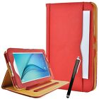 """Real Leather Flip Stand Case Smart Cover Samsung Galaxy Tab E 9.6"""" & Tab A 9.7"""""""
