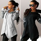 Women New Fashion Sweatshirts Pullover Top Hoodie Zipper Blouse Sweaters TXST