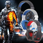 Gaming Headset Surround Stereo Headband Headphone 3.5mm with Mic for PC
