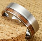 Mens Womens 8mm Tungsten Silver Ring Vintage Wedding Engagement White Band