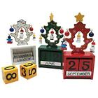 Home Office Christmas Ornaments Wood Xmas Tree Calendar Decoration