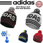 ADIDAS GOLF HAT ADIDAS GOLF POM POM BEANIE WINTER GOLF HAT *NEW 2017* ONE SIZE