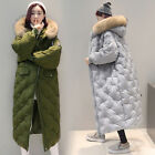 Overcoat Womens Duck Down Parka Jacket Loose Full Length Outwear Warm Coat Thick