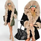 Women Winter Long Warm Thick Parka Faux Fur Jacket Hooded Coat New EA