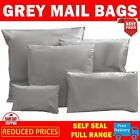 CHEAP GREY MAILING BAGS POLY SELF SEAL POUCHES MAILERS SACKS STRONG ALL SIZEZ