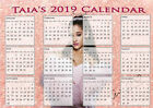 Personalised 2018 Calendars - ANY DESIGN, ANY NAME- Lovely Christmas Gift Ideas