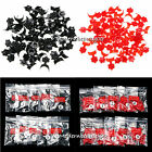 500 Pcs French Style False Acrylic Nail Art Tips Set Black / Red