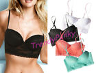 Floral Lace Bustier Crop Top PUSH UP Padded Bra Sheer Bralette Cleavage