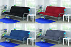 Futons Frame and Mattress Bed full size sleeper sofa couch convertible Metal Arm