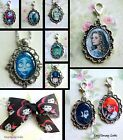 TIM BURTON FILMS CLIP ON CHARM OR NECKLACE CORPSE BRIDE EDWARD SCISSORHANDS