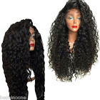 Women Fiber Loose Curly Synthetic Lace Front Wigs Heat-Resistant Long Hair Wigs