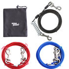 Dog Puppy Tie Out Cable Lead Wire Pet Heavy Duty Garden Camping 10ft 15ft 20ft