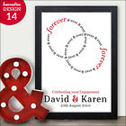 Forever and Ever Personalised Engagement Gift - Couples Engagement Presents