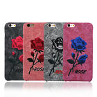 Fashion Retro Flower Cloth Embroidery Rose Pattern Case Cover  iPhone 7 6S Plus