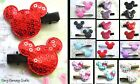 2 X (1 PAIR) OF MINNIE OR MICKEY MOUSE HEAD HAIR GRIPS CLIPS MINNIE FABRIC