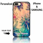 personalized name with Coconut Trees nice sky customize Phone case for girl wife