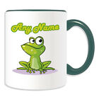 Personalised Gift Staring Frog Mug Money Box Cup Animal Design Cute Toad Name