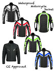 Mens Waterproof Motorbike Motorcycle Cordura Jacket CE Armoured S - 5XL