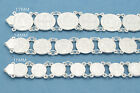 925 Sterling Silver San Benito Protection Medal Bracelets 7.5 inches