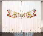 Animal Curtains 2 Panels Set Majestic Dragonfly Art Home Decor