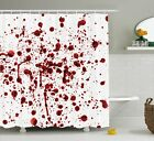 Zombie Shower Curtain Splashes Of Blood Horror Themed Red