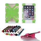 Universal Soft Silicone Bumper Shockproof Stand Case Cover Skin For Tablet