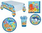 Sea Creatures Fish Shark Octopus Birthday Party Tableware Ocean Buddies
