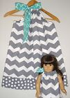 American girl doll dress matching dresses grey chevron pillowcase dress handmade
