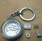 Remembrance Memorial Keepsake Locket Memory Dad Mom Aunt Floating charms