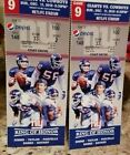 NY Giants vs Dallas Cowboys 2 tickets LL w parking pass