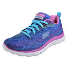Skechers Skech Appeal Superior Luxe Memory Foam Junior Girls Trainers Blue