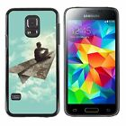 Hard Phone Case Cover Skin For Samsung Dreaming boy on paper plane