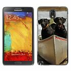 Hard Phone Case Cover Skin For Samsung Black dogs in a river boat