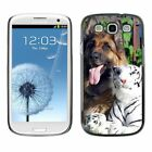 Hard Phone Case Cover Skin For Samsung German shepherd dog with toy
