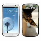 Hard Phone Case Cover Skin For Samsung Sleeping cat sticks the paw