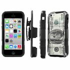 iPhone [5C] Total Defense Armor Case [Kickstand Holster] [Screen Protector] - I