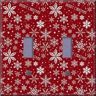 Merry Christmas Snow Flakes Light Switch Plate Cover Wall Decor