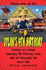Personalised Birthday Party Invitations with Fireman Sam Design Any Name and Age