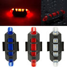 NEW Bike Cycling Bicycle 5 LED Head Front Rear USB Rechargeable Tail Light Lamp