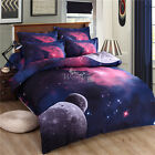 Galaxy Duvet Doona Quilt Cover Set Double/Queen/King Size Bed Nature Sky Stars