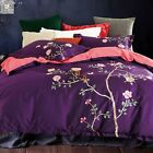 Craft Embroidery Quilt/Doona/Duvet Cover 100% Cotton Set Queen/King Bed Size New