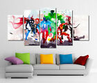 Framed Wall Canvas Art - Abstract Watercolor Marvel Avengers Super Hero Prints